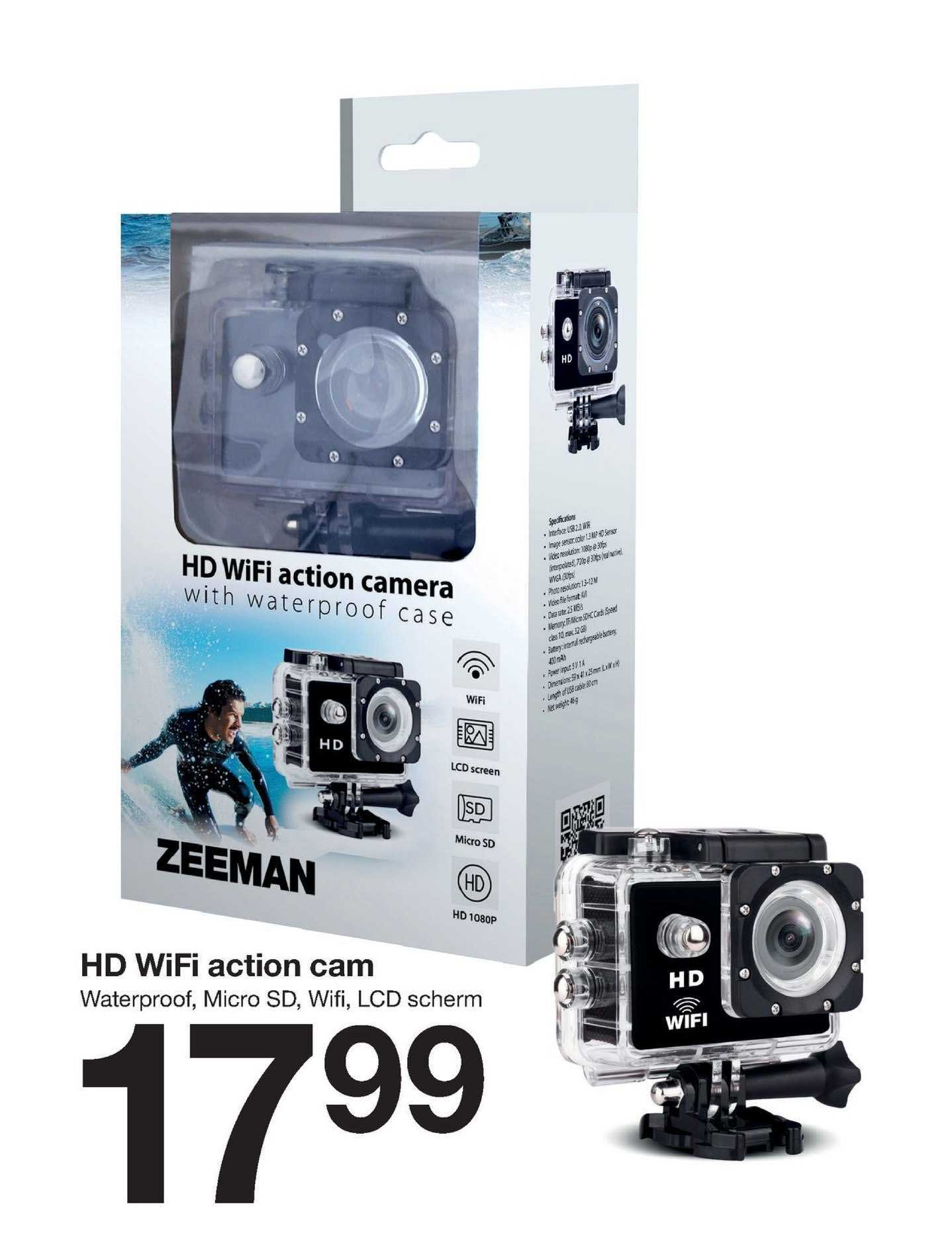 Zeeman HD Wifi Action Cam
