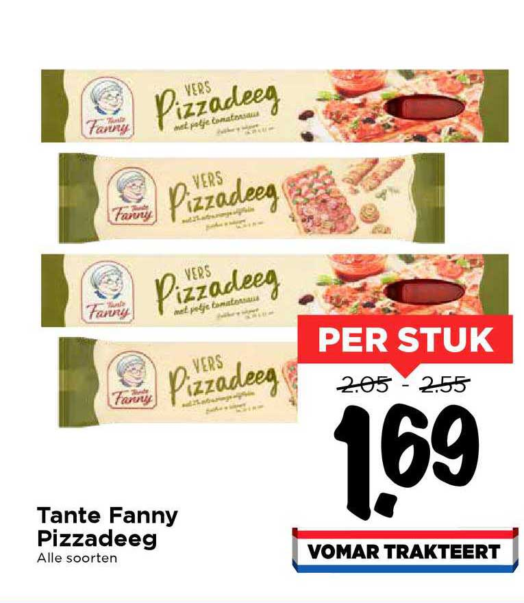 Vomar Tante Fanny Pizzadeeg
