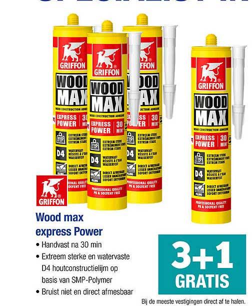 PontMeyer Griffon Wood Max Express Power 3+1 Gratis