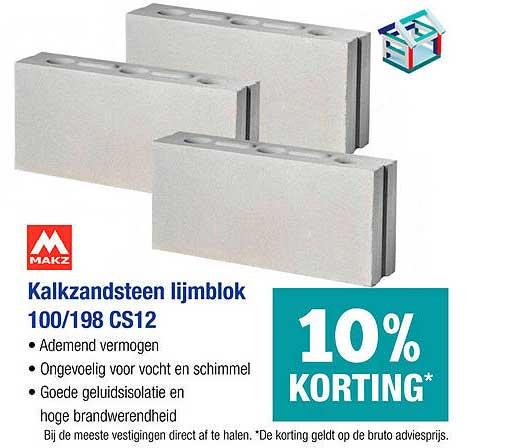 PontMeyer Makz Kalkzandsteen Lijmblok 100-198 CS12 10% Korting