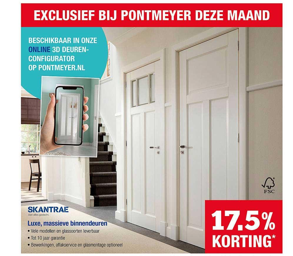 PontMeyer Skantrae Luxe, Massieve Binnendeuren 17,5% Korting