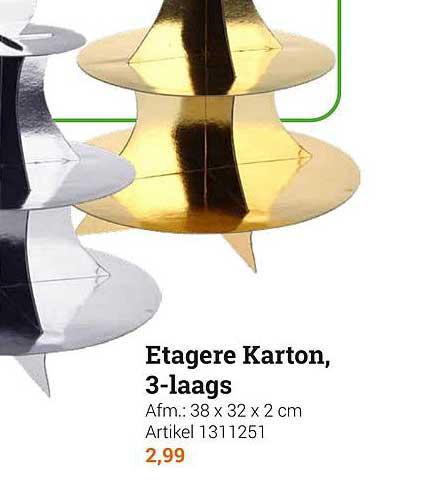 Lobbes Etagere Karton, 3-Laags
