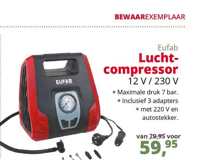 Teun Eufab Luchtcompressor 12 V - 230 V
