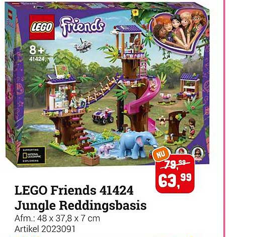 Lobbes Lego Friends 41424 Jungle Reddingsbasis