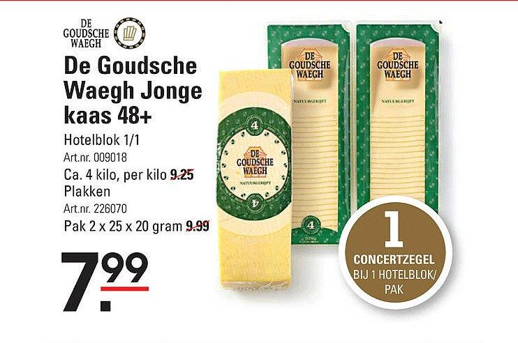 Sligro De Goudsche Waegh Jonge Kaas 48+ Hotelblok 1-1 Of Plakken