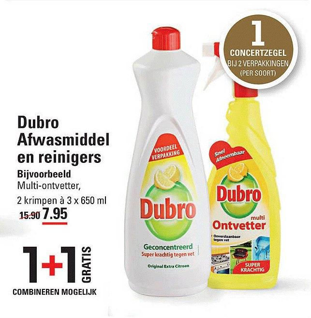 Sligro Dubro Afwasmiddel En Reinigers 1+1 Gratis