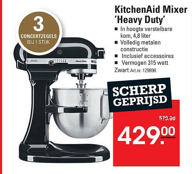 Sligro KitchenAid Mixer 'Heavy Duty'