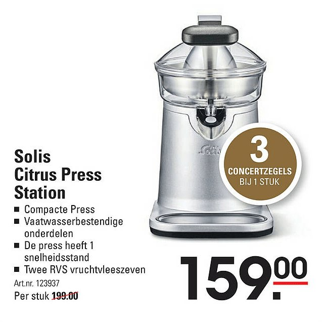 Sligro Solis Citrus Press Station