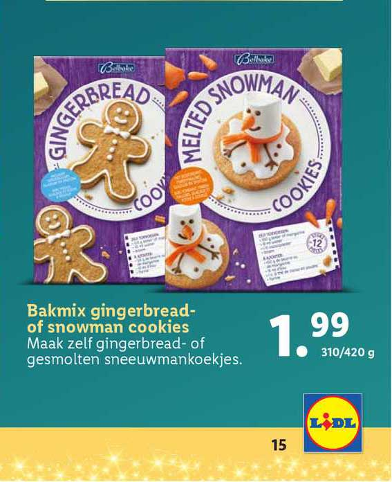 Lidl Bakmix Gingerbread Of Snowman Cookies