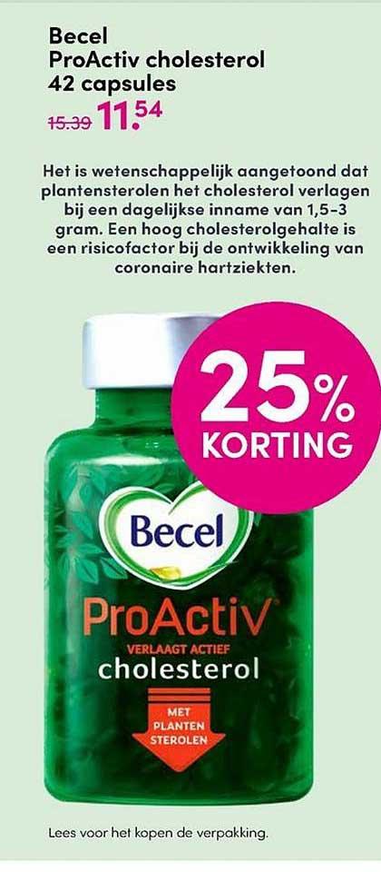 DA Becel ProActiv Cholesterol 42 Capsules 25% Korting