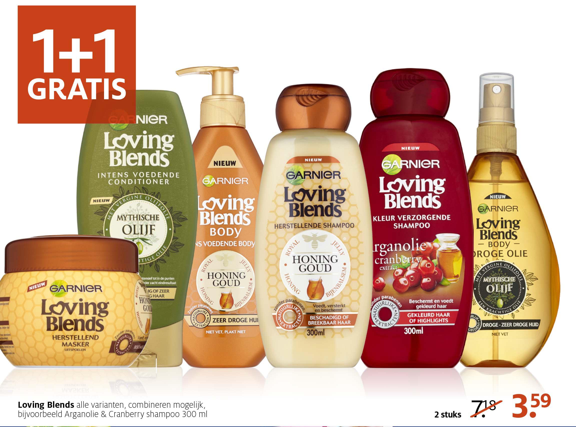 Etos Garnier Loving Blends: 1+1 Gratis