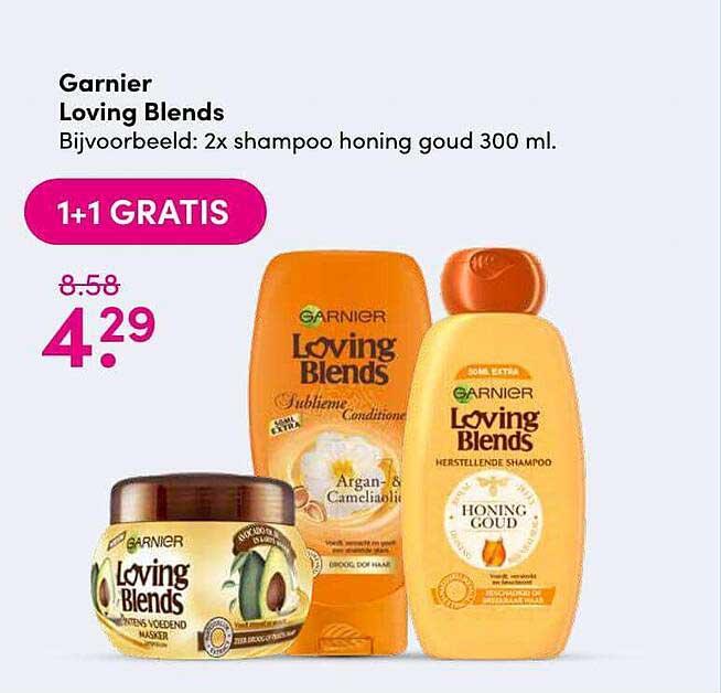 DA Garnier Loving Blends 1+1 Gratis