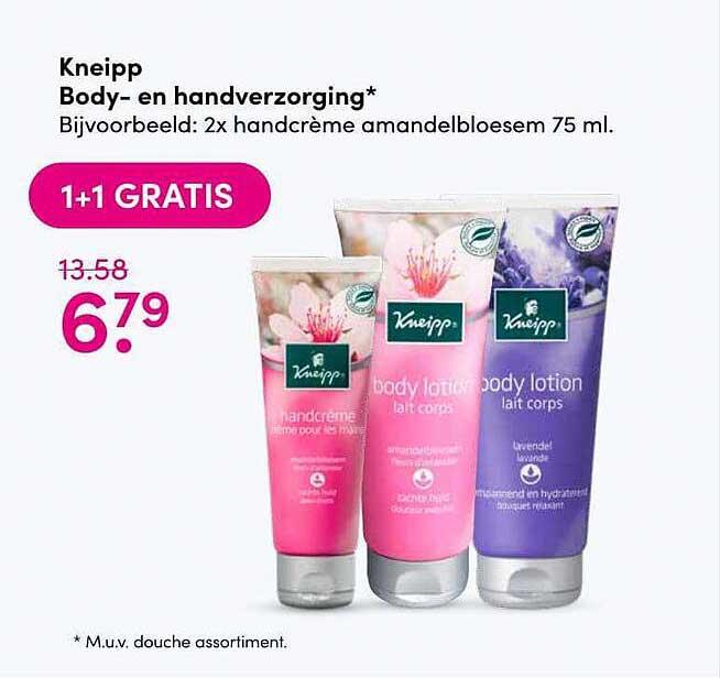 DA Kneipp Body- En Handverzorging 1+1 Gratis