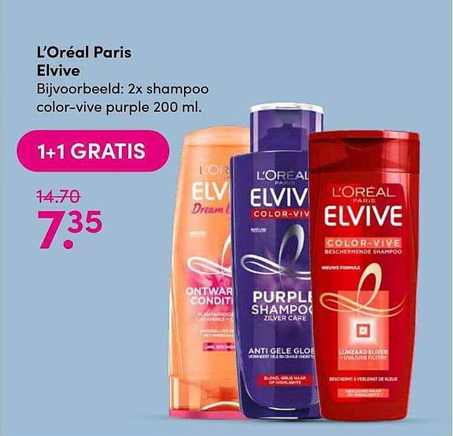 DA L'Oréal Paris Elvive 1+1 Gratis