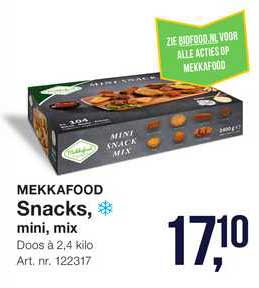 Bidfood Mekkafood Snacks, Mini, Mix