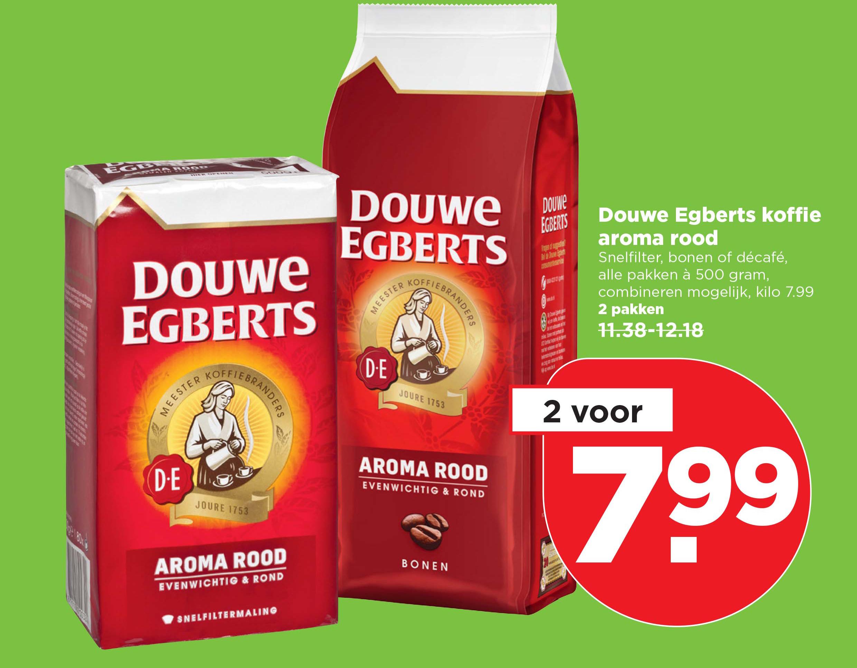 PLUS Douwe Egberts Koffie Aroma Rood: 2 Voor €7,99