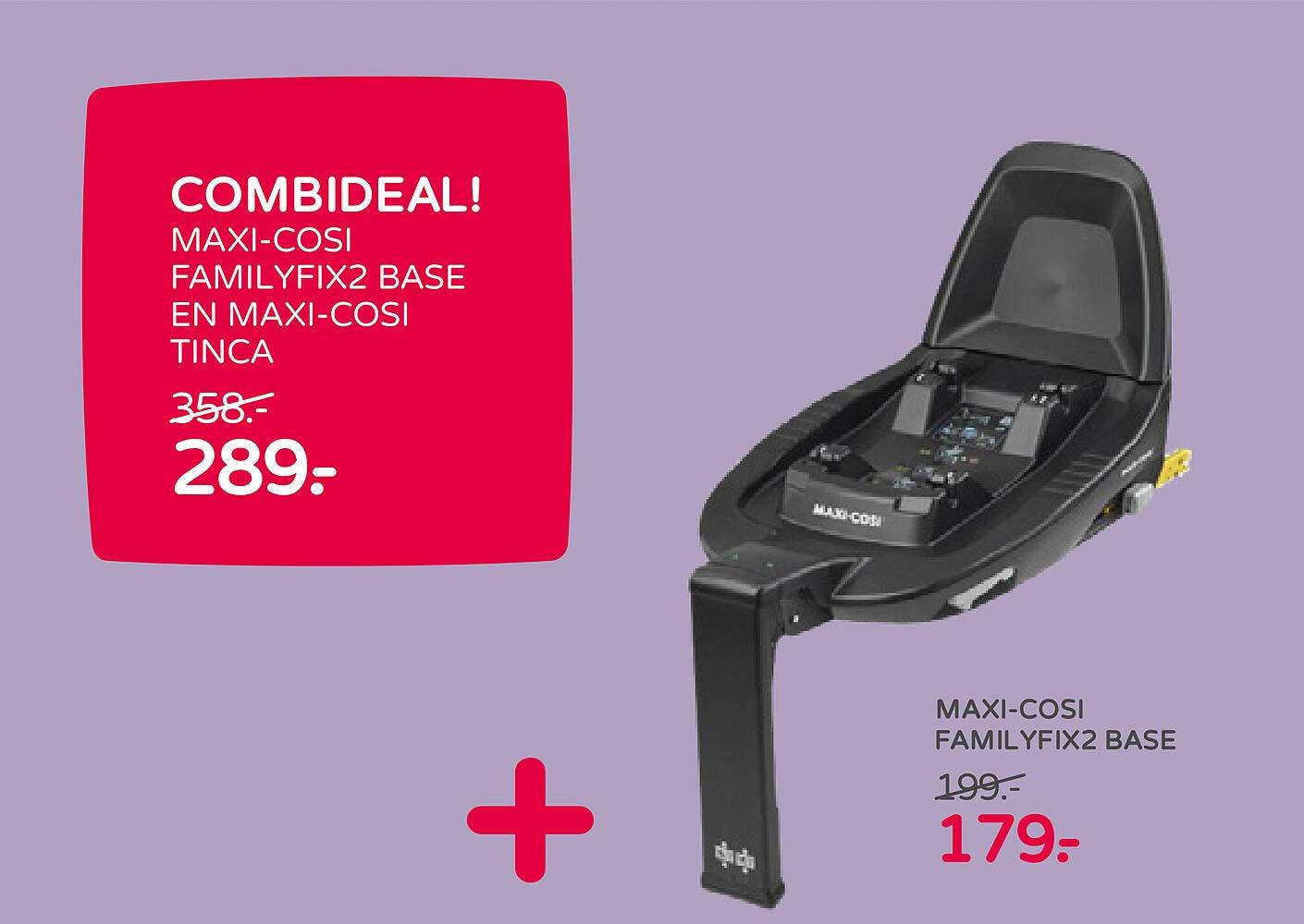 Prénatal Combideal! Maxi-Cosi Familyfix2 Base En Maxi-Cosi Tinca Of Maxi-Cosi Familyfix2 Base