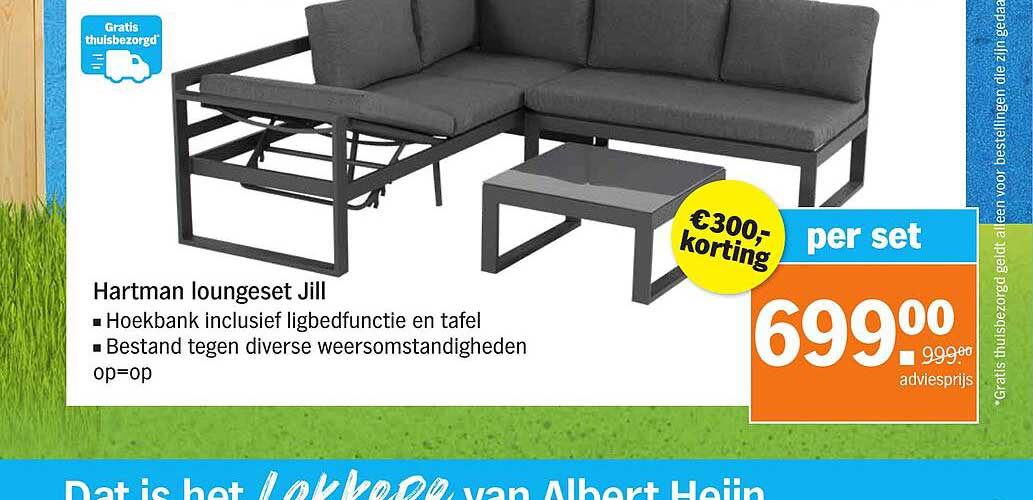 Albert Heijn Hartman Loungeset Jill €300.- Korting