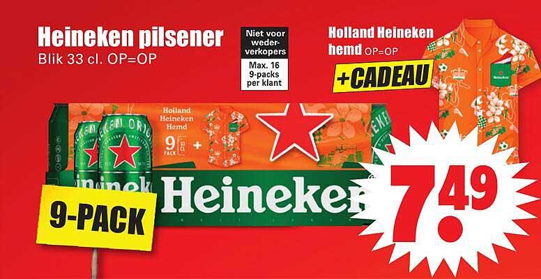 Dirk Heineken Pilsener Of Holland Heineken Hemd