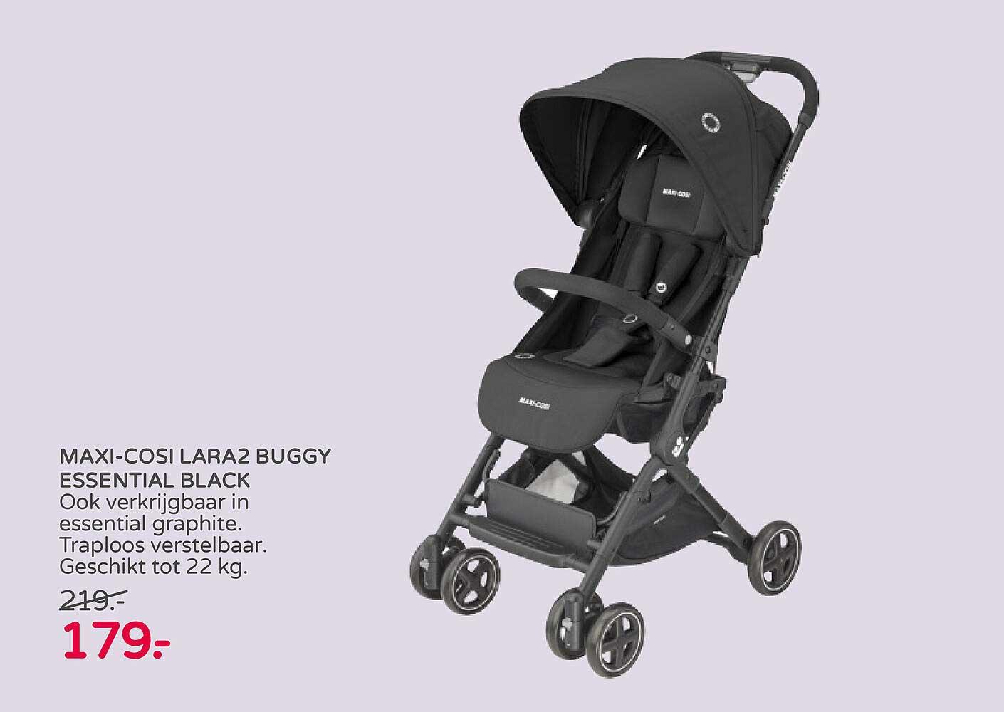 Prénatal Maxi-Cosi Lara2 Buggy Essential Black