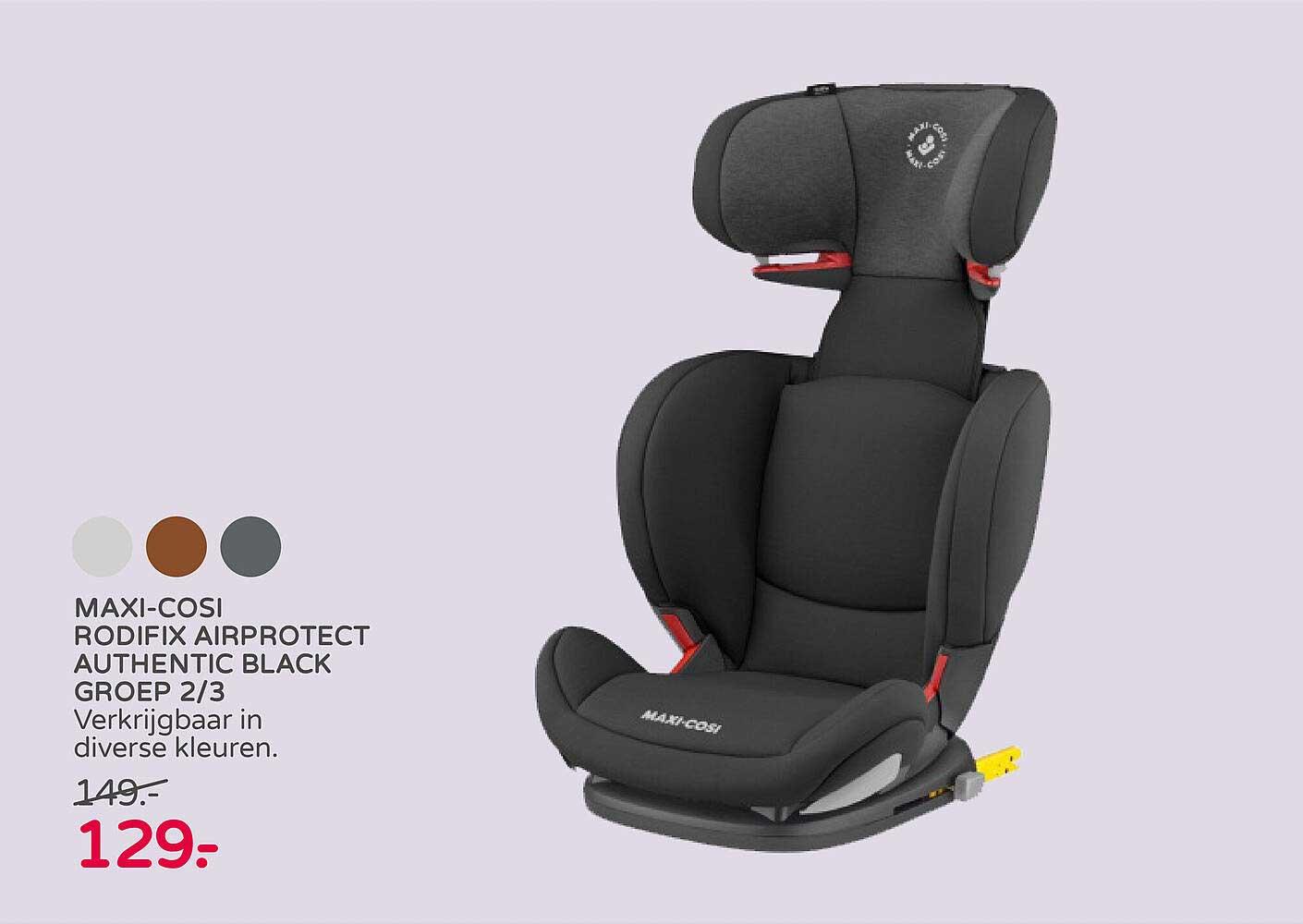 Prénatal Maxi-Cosi Rodifix Airprotect Authentic Black Groep 2-3 Autostoel