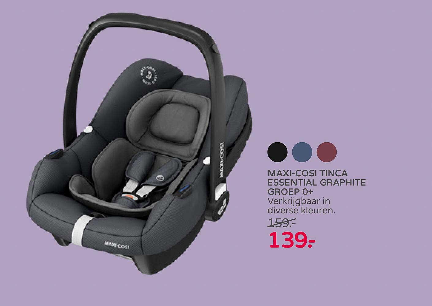 Prénatal Maxi-Cosi Tinca Essential Graphite Groep 0+ Autostoel