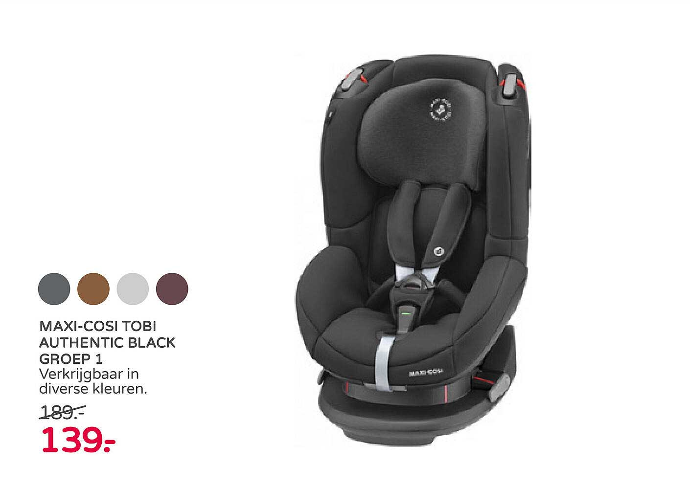 Prénatal Maxi-Cosi Tobi Authentic Black Groep 1 Autostoel