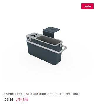 Vtwonen Joseph Joseph Sink Aid Gootsteen Organizer Grijs