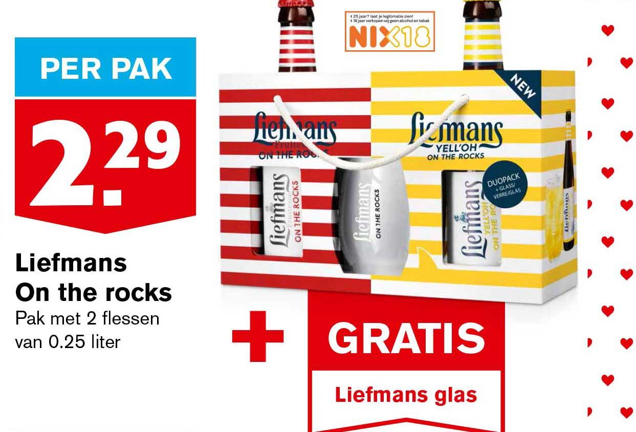 Hoogvliet Liefmans On The Rocks + Gratis Liefmans Glas