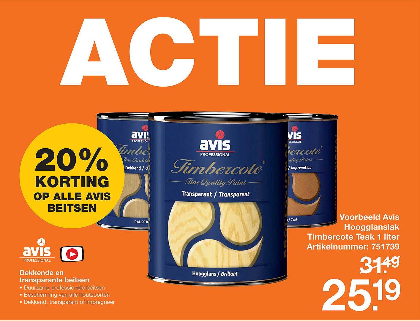 Bouwmaat Avis Hoogglanslak Timercote Teak 1 Liter