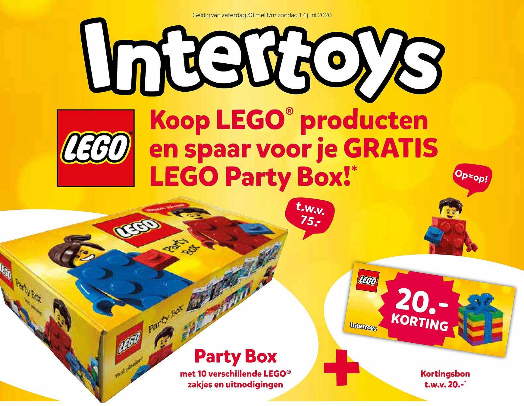 Intertoys Koop Lego Producten En Spaar Voor Je Gratis Lego Party Box