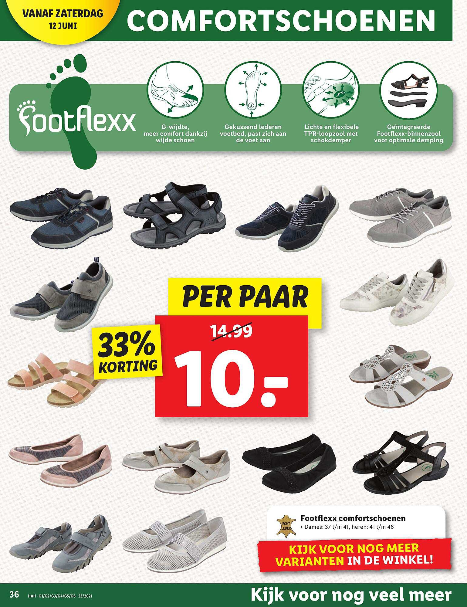 Lidl Footflexx Comfortschoenen 33% Korting