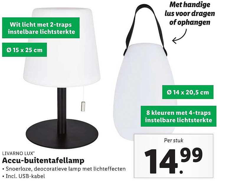 Lidl Livarno Lux Accu-Buitentafellamp