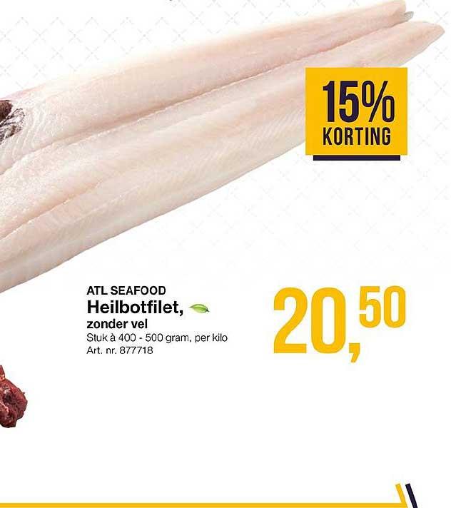 Bidfood Atl Seafood Heilbotfilet 15% Korting