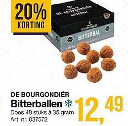 Bidfood De Bourgondier Bitterballen 20% Korting