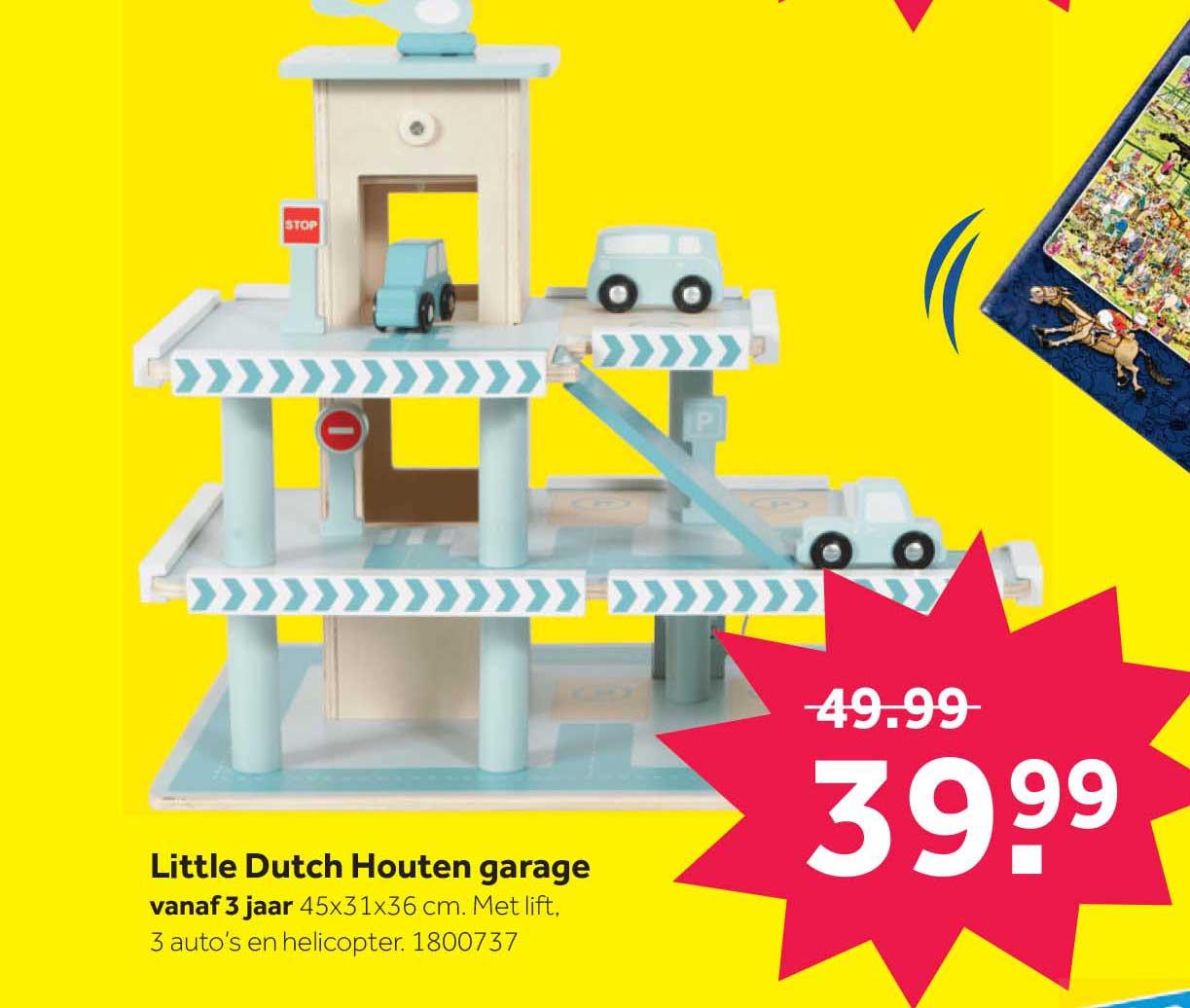 Intertoys Little Dutch Houten Garage