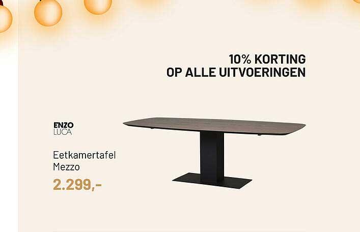 Piet Klerkx Eetkamertafel Mezzo