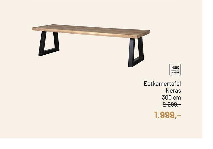 Piet Klerkx Eetkamertafel Neras 300 Cm