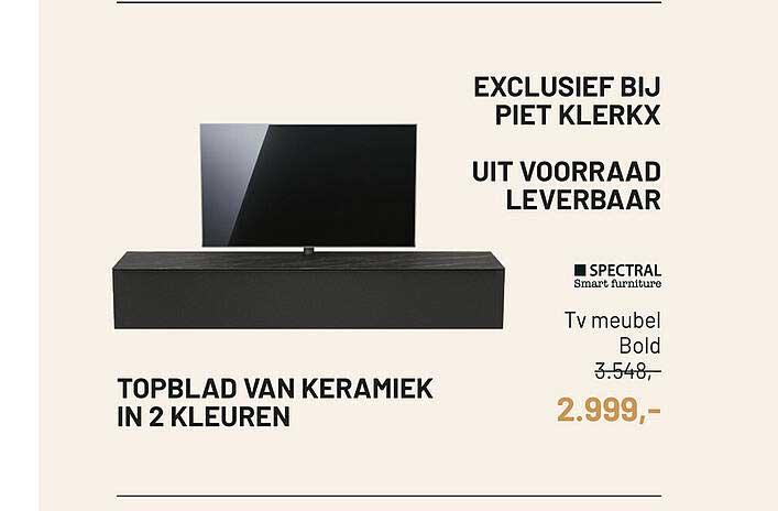 Piet Klerkx TV Meubel Bold