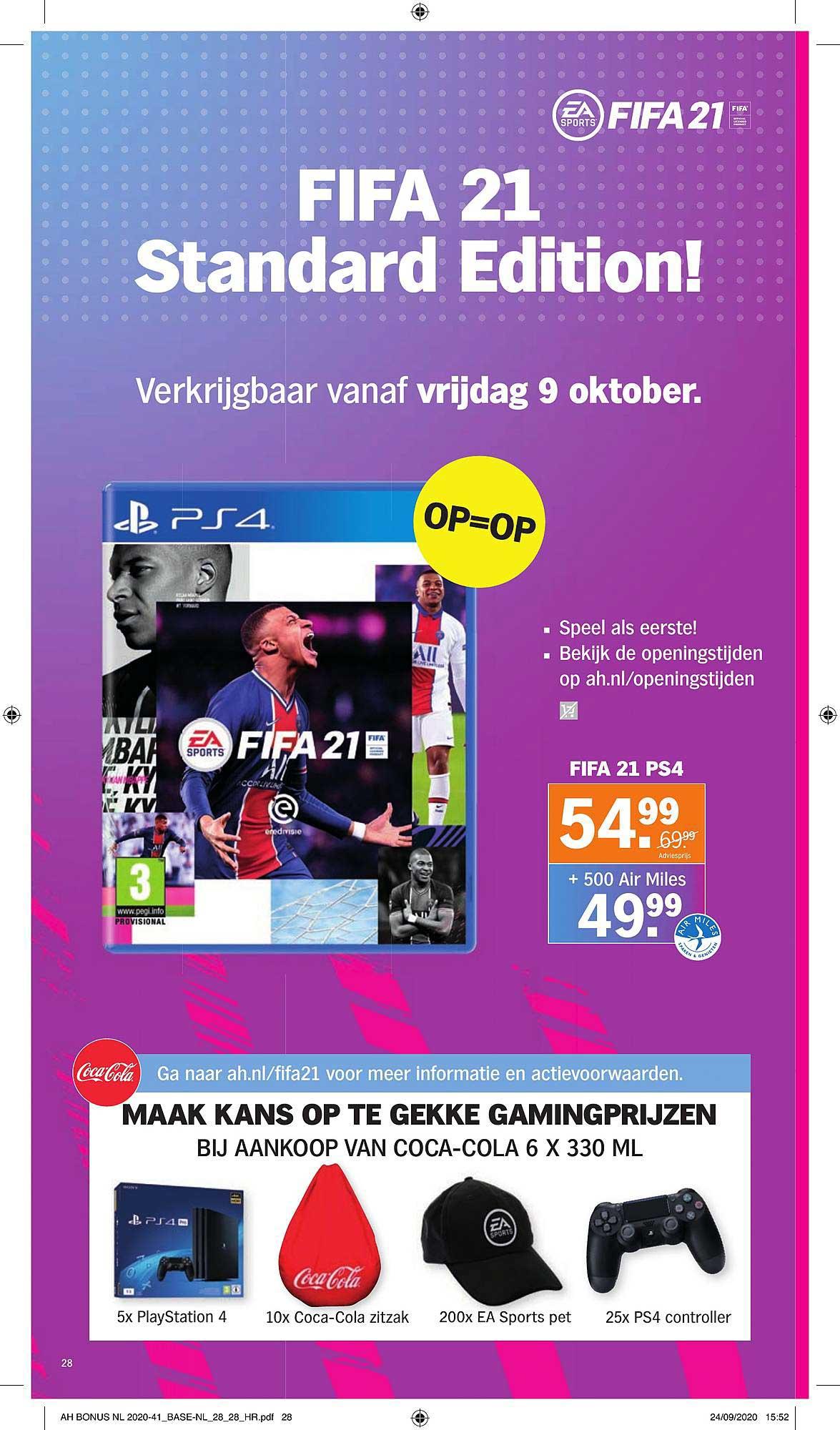 Albert Heijn PS4 Fifa 21
