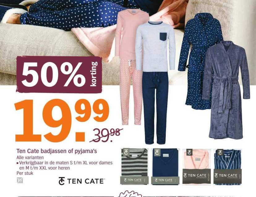 Albert Heijn Ten Cate Badjassen Fo Pyjama's: 50% Korting
