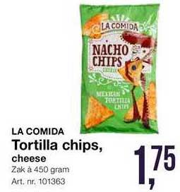 Bidfood La Comida Tortilla Chips Cheese
