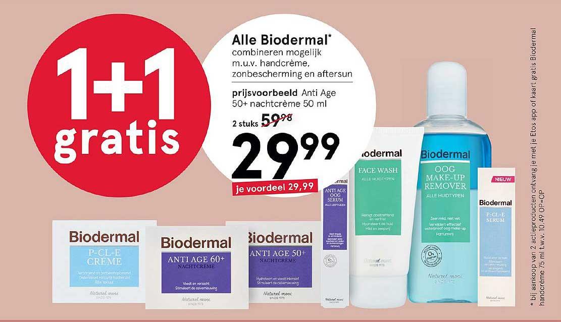 Etos Alle Biodermal: 1+1 Gratis