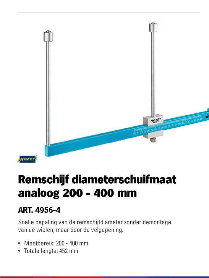 Toolspecial Hazet Remschijf Diameterschuifmaat Analoog 200 - 400 Mm