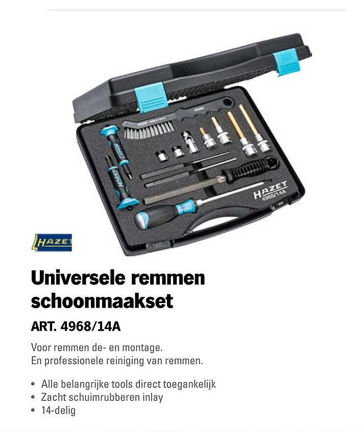 Toolspecial Hazet Universele Remmen Schoonmaakset