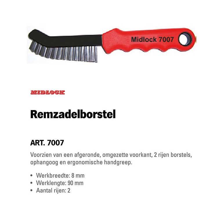 Toolspecial Midlock Remzadelborstel