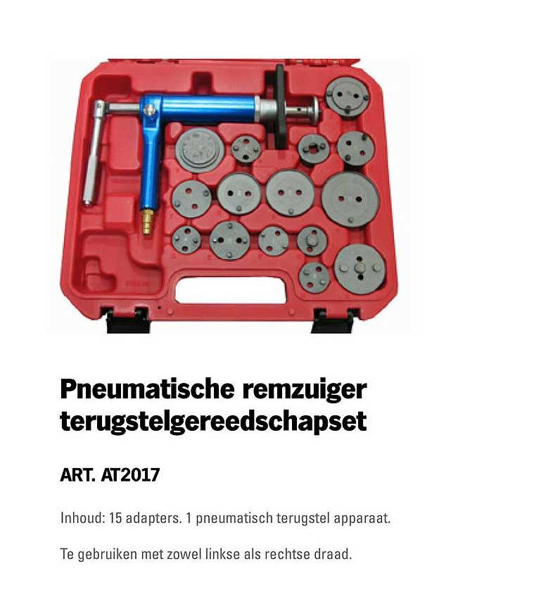 Toolspecial Pneumatische Remzuiger Terugstelgereedschapset