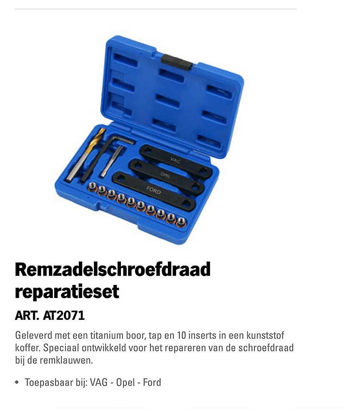 Toolspecial Remzadelschroefdraad Reparatieset
