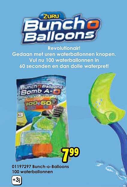 Toychamp 01198297 Bunch-O-Ballons 100 Waterballonnen