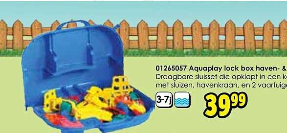 Toychamp 01265057 Aquaplay Lock Box Haven- & Sluisset